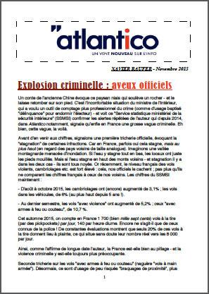 Explosion criminelle : aveux officiels