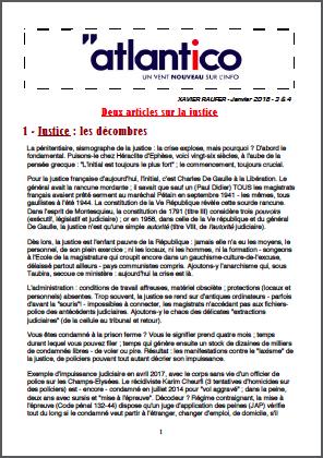 Deux articles sur la justice