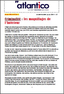 Criminalité : les maquillages de l'Intérieur