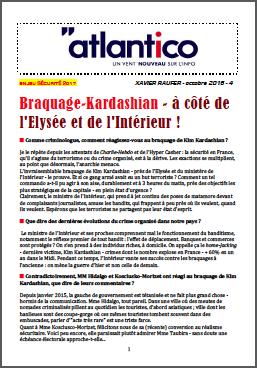 Braquage-Kardashian – à côté de l'Elysée et de l'Intérieur !