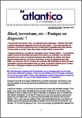 Jihad, terrorisme, etc. : Panique ou diagnostic ?