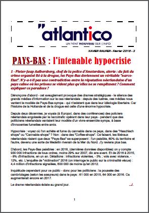 PAYS-BAS : l'intenable hypocrisie
