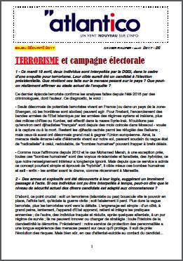 TERRORISME et campagne électorale