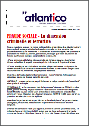 FRAUDE SOCIALE – La dimension criminelle et terroriste