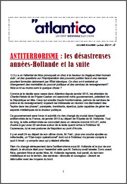 ANTITERRORISME : les désastreuses années-Hollande et la suite