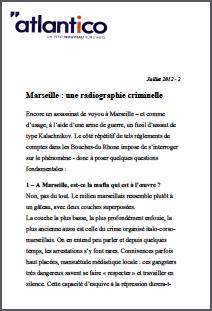 Marseille : une radiographie criminelle