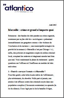 Marseille : crime et grand n'importe quoi