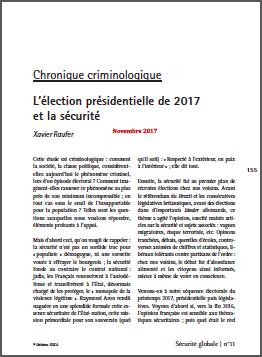 L'élection présidentielle de 2017 et la sécurité
