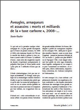 Aveugles, arnaqueurs et assassins : morts et milliards de la « taxe carbone », 2008–…