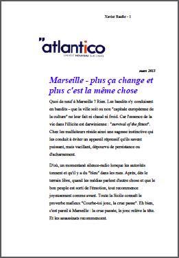 Marseille – plus ça change et plus c'est la même chose