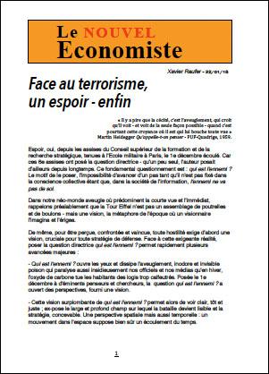 Face au terrorisme, un espoir – enfin