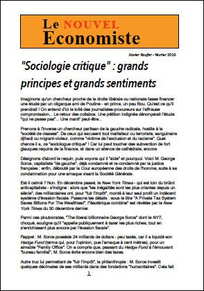 «Sociologie critique» : grands principes et grands sentiments