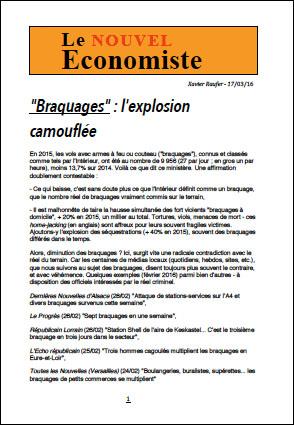 «Braquages» : l'explosion camouflée
