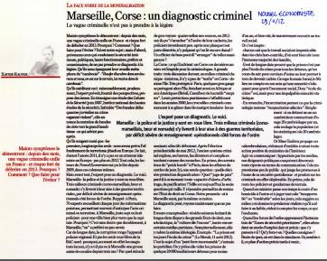 Marseille, Corse : un diagnostic criminel