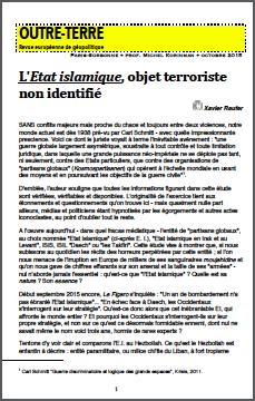 L'Etat islamique, objet terroriste non identifié