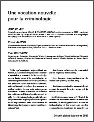 Une vocation nouvelle pour la criminologie