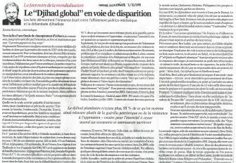 Le «Djihad global» en voie de disparition