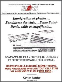 Immigration et ghettos… Banditisme des cités… Seine Saint Denis, Caids et stupéfiants…