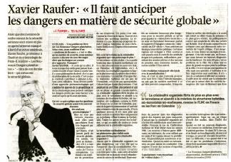 """""""Il faut anticiper les dangers en matière de sécurité globale"""""""