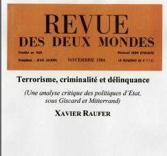 Terrorisme, criminalité et délinquance, une analyse critique des politiques d'Etat sous Giscard et Mitterrand