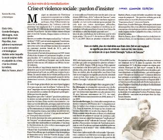 Crise et violence sociale : pardon d'insister