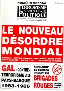 (1993) Articles parus dans Notes et Etudes  Numéros de Terrorisme & Violence Politique N° 6 & 7, 8 – N° 23 & 24, 25 des Notes & Etudes