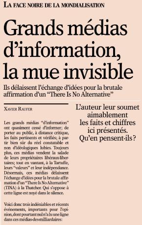 Grands médias d'information, la mue invisible