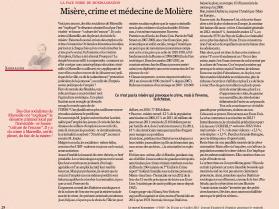 Misère, crime et médecine de Molière