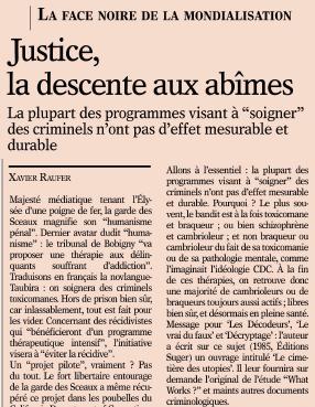 Justice, la descente aux abîmes