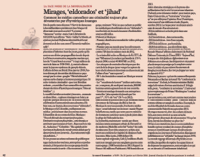 Mirages, «eldorado» et «jihad»