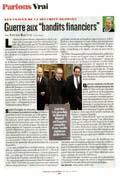 Guerre aux «bandits financiers»