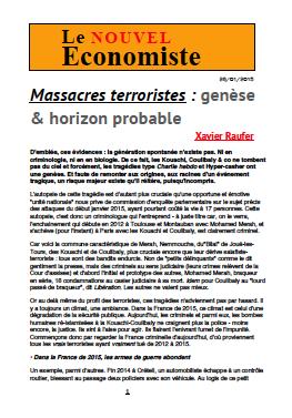 Massacres terroristes : genèse & horizon probable