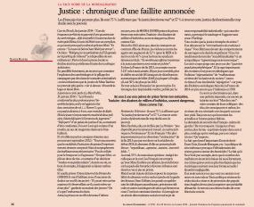 Justice : chronique d'une faillite annoncée