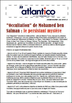 «Occultation» de Mohamed ben Salman : le persistant mystère
