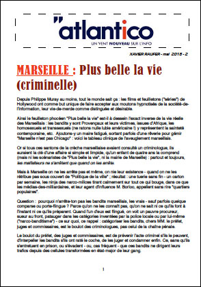 MARSEILLE : Plus belle la vie (criminelle)