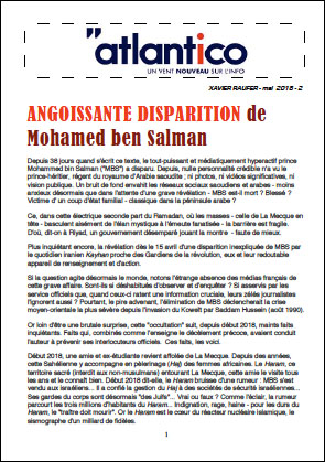 ANGOISSANTE DISPARITION de Mohamed ben Salman