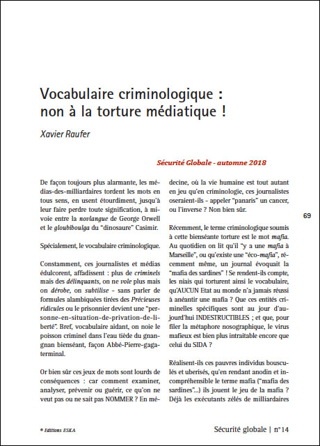 Vocabulaire criminologique : non à la torture médiatique !