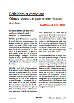 Définitions et confusions. Crimes (politiques, de guerre et contre l'humanité)