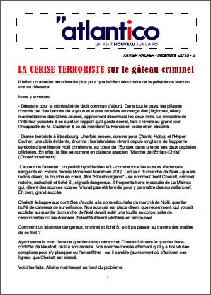 LA CERISE TERRORISTE sur le gâteau criminel