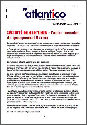 SÉCURITÉ DU QUOTIDIEN : l'autre incendie du quinquennat Macron