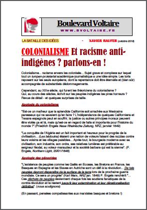 COLONIALISME Et racisme anti-indigènes ? parlons-en !