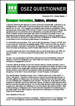 Étrangers terroristes, fichiers, décision