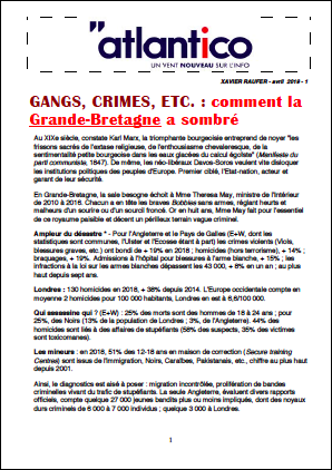GANGS, CRIMES, ETC. : comment la Grande-Bretagne a sombré