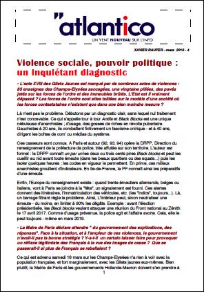 Violence sociale, pouvoir politique : un inquiétant diagnostic