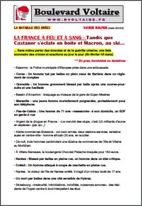 LA FRANCE À FEU ET À SANG – Tandis que Castaner s'éclate en boîte et Macron, au ski…