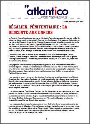 Régalien, pénitentiaire : la descente aux enfers