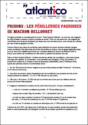 Prisons : les périlleuses passoires de Macron-Belloubet