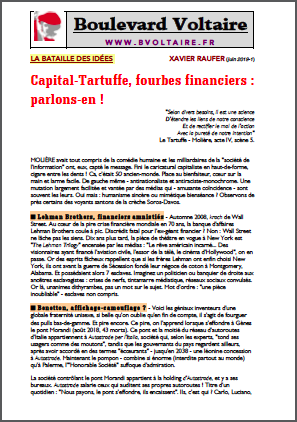 Capital-Tartuffe, fourbes financiers : Parlons-en !