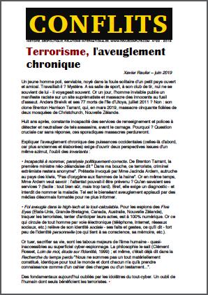 Terrorisme, l'aveuglement chronique