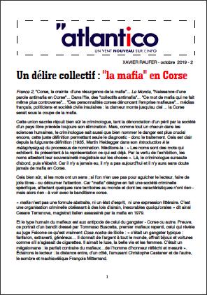 Un délire collectif : «la mafia» en Corse